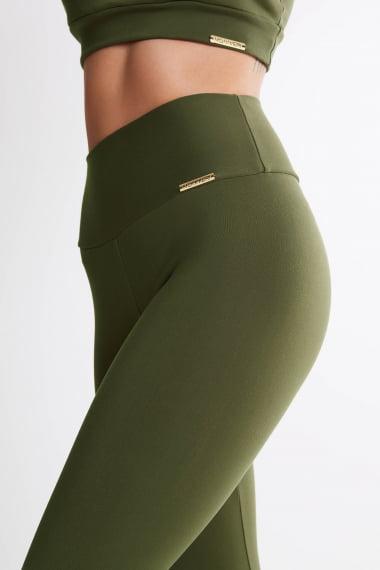 Legging Verde Militar Mulheres Altas  - Comprimento Personalizado
