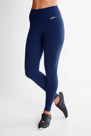 Legging Azul Marinho Mulheres Altas - Comprimento Personalizado