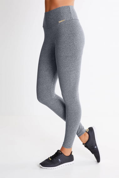 Legging Cinza Claro Mulheres Altas - Comprimento Personalizado
