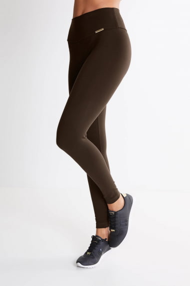 Legging Marrom Mulheres Altas  - Comprimento Personalizado