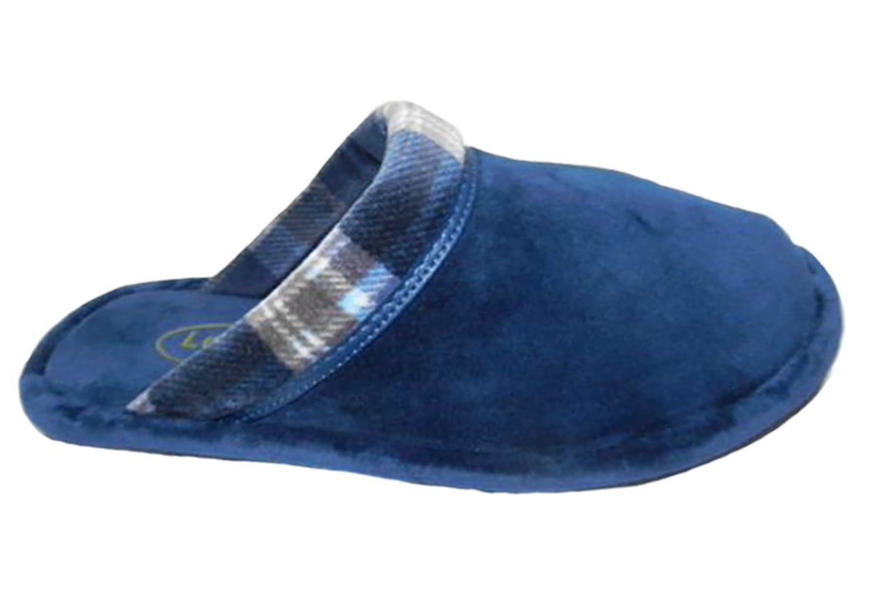 Chinelo de Pano Leffa | Azul / Xadrez