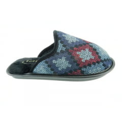 Chinelo de Pano Leffa | Estampado | Argila / Azul / Preto