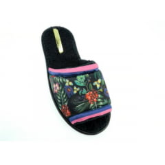 Chinelo Pantufa Feminino Floral | Moleca