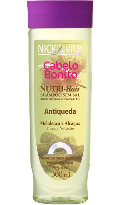SHAMPOO ANTIQUEDA NICK E VICK NUTRI HAIR 300ML