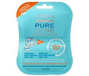 MÁSCARA PURE ZONE PEEL-OFF  ANTI-CRAVOS UNISSEX - L´ORÉAL PARIS