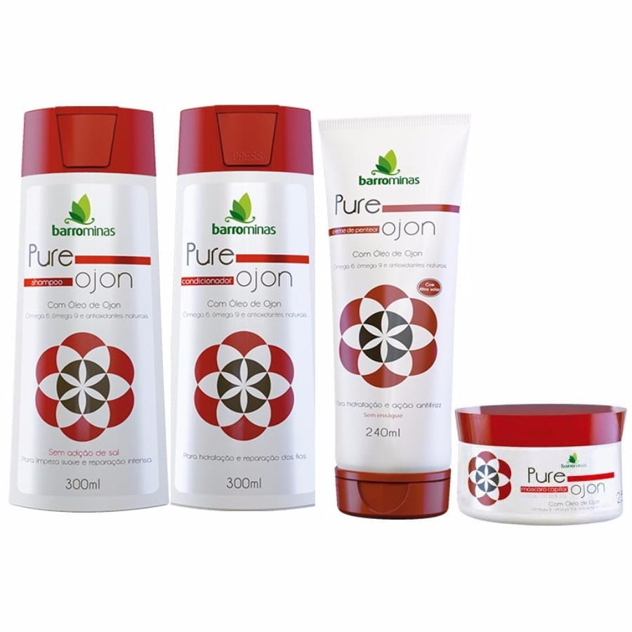 kit para Tratamento Capilar - Pure Ojon - Barro Minas