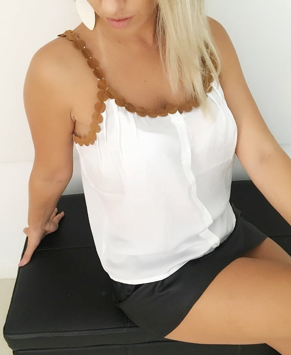 Blusa de Alça Fina Givenchy Branca
