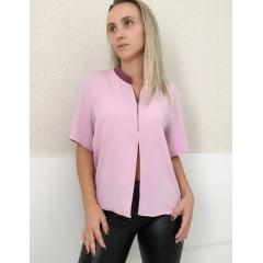 Camisa Manga Curta Feminina Lilas