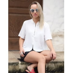 Camisa Manga Curta Feminina Off White