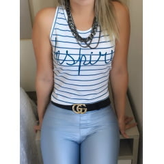 Cropped Regata Azul