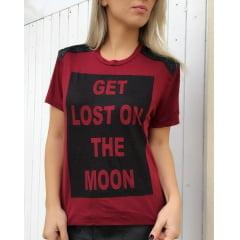 T-Shirt Feminina Estilosa Bordô