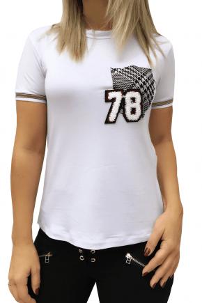 T-Shirt Feminina Estilosa Branca 78