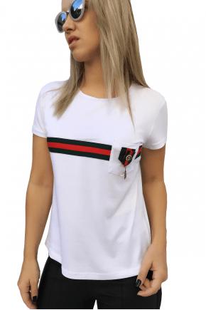 T-Shirt Gucci Inspired Branca