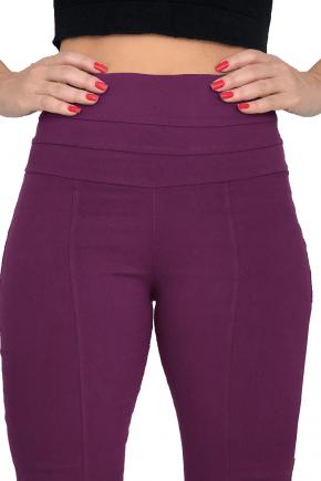 Calça Flare Cintura Alta Bengaline Violeta