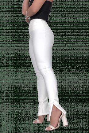 Calça Skinny Neoprene Cós Triplo Branca