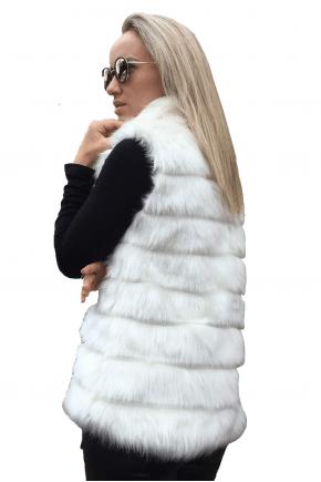 Colete de Pelo Branco