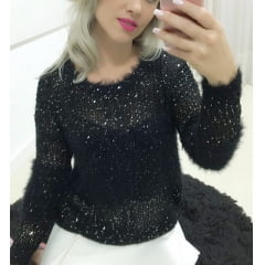 Blusa de Trico Feminina Preta