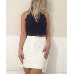 Saia Midi Reta Off White