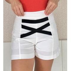Short Cos Alto Branco