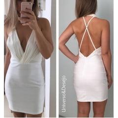 Vestido Branco Curto de Festa