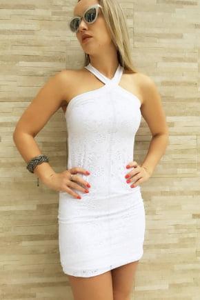 Vestido Tubinho de Renda Branco