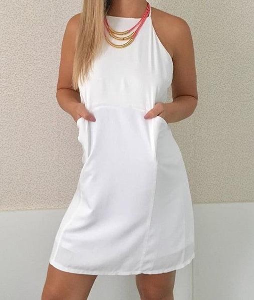 59b74c099c Vestido Branco Casual