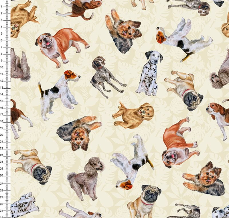 Dogs Fundo Bege 9100eE1474