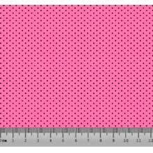 Bolinha Micro Desenho 2333 var03 Rosa Claro com Preto