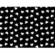 Coração Desenho 2339 var09- Preto c Branco