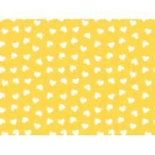 Coração Des. 2339 var20 Amarelo Ouro com branco