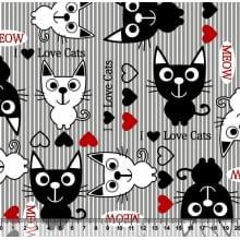 Gatos Desenho 3056 var04 - cinza