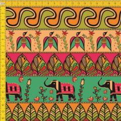 Tecido Tricoline Estampado Africano 9100E417