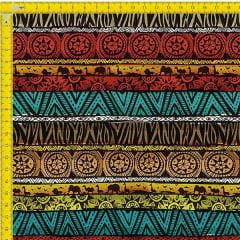 Tecido Tricoline Estampado Digital Africano 9100e910