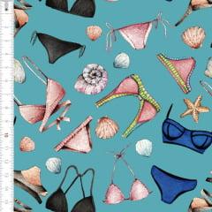 Tecido Tricoline Estampado Digital Lingerie  9100e1508
