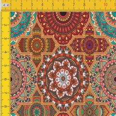 Tecido Tricoline Estampado Digital Mandalas 9100E427