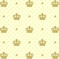 Tecido Tricoline Mista Corôa Dourada 14434