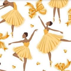 Tecido Tricoline Mista Bailarinas