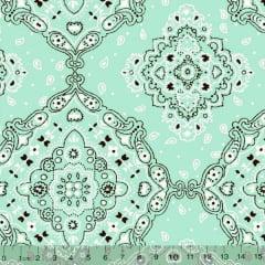Tecido Tricoline Bandana - Verde Claro 2272-30