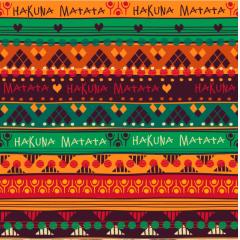 Tecido Tricoline Estampado Digital Africano Hakuna Matata 9030E006
