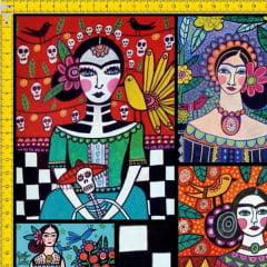 Tecido Tricoline Estampado Digital Pinturas Mexicanas 9100E591