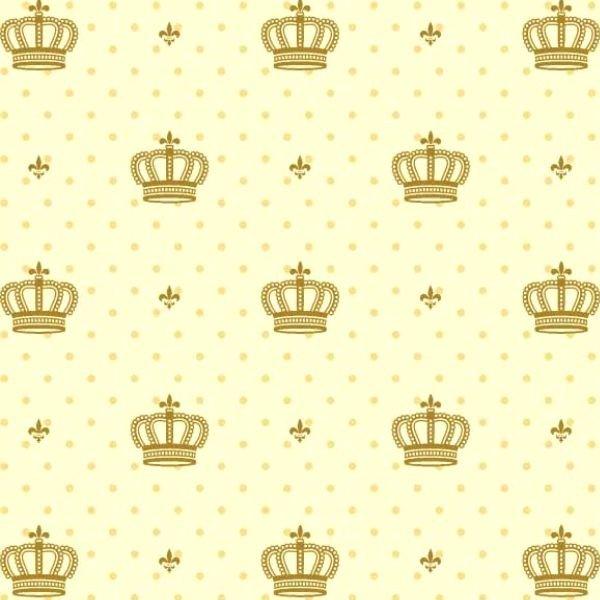 Tecido Tricoline mista Corôa Dourada