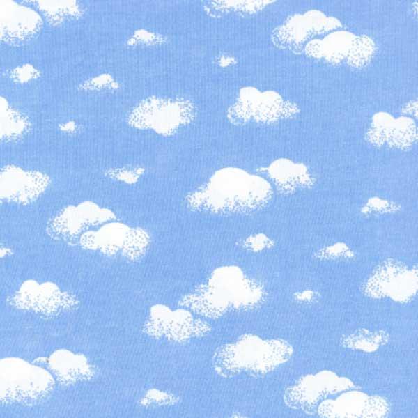 Tricoline Mista Nuvens Brancas Fundo Azul 16002c1