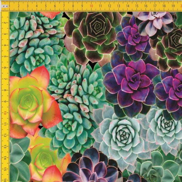 Tecido Tricoline Estampado Digital Suculentas 9100E449
