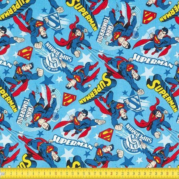 Tecido Tricoline Estampado Superman 12A
